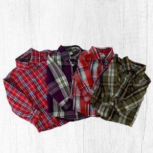 🍭 kids lot of 4 button down shirt